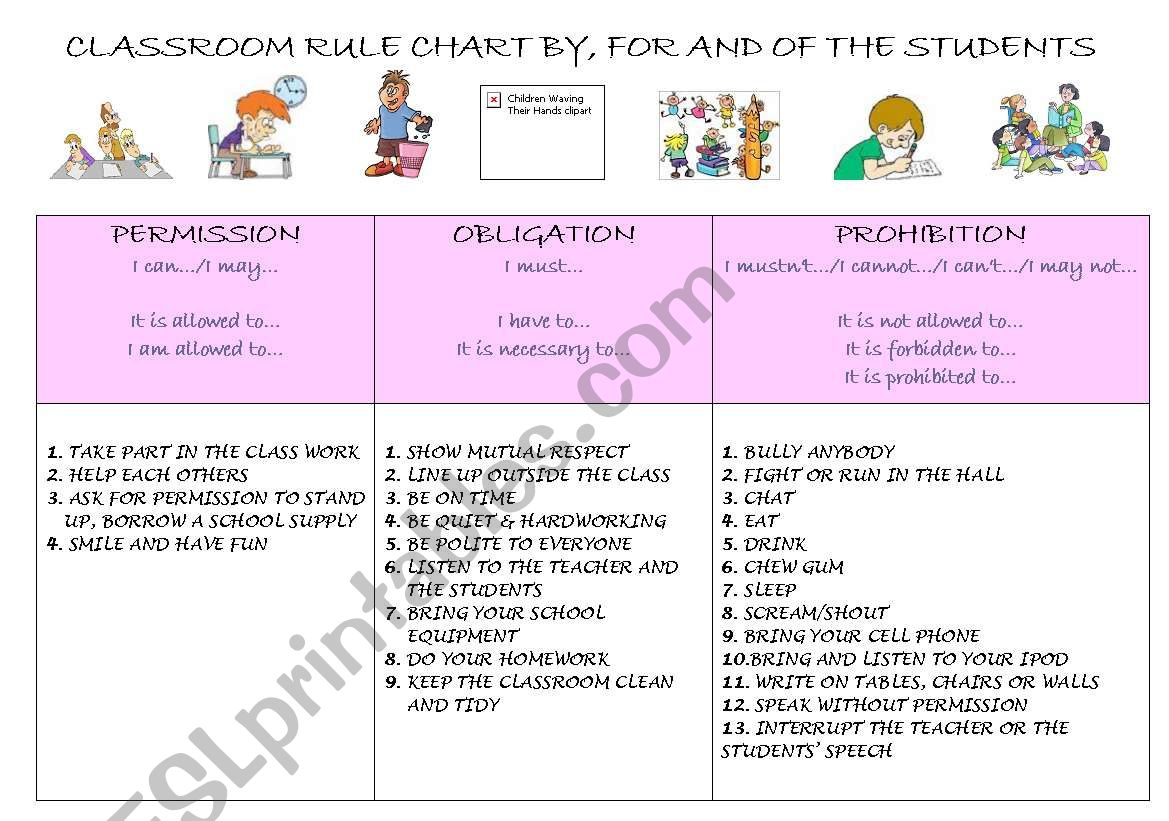 My Classroom Rule Chart