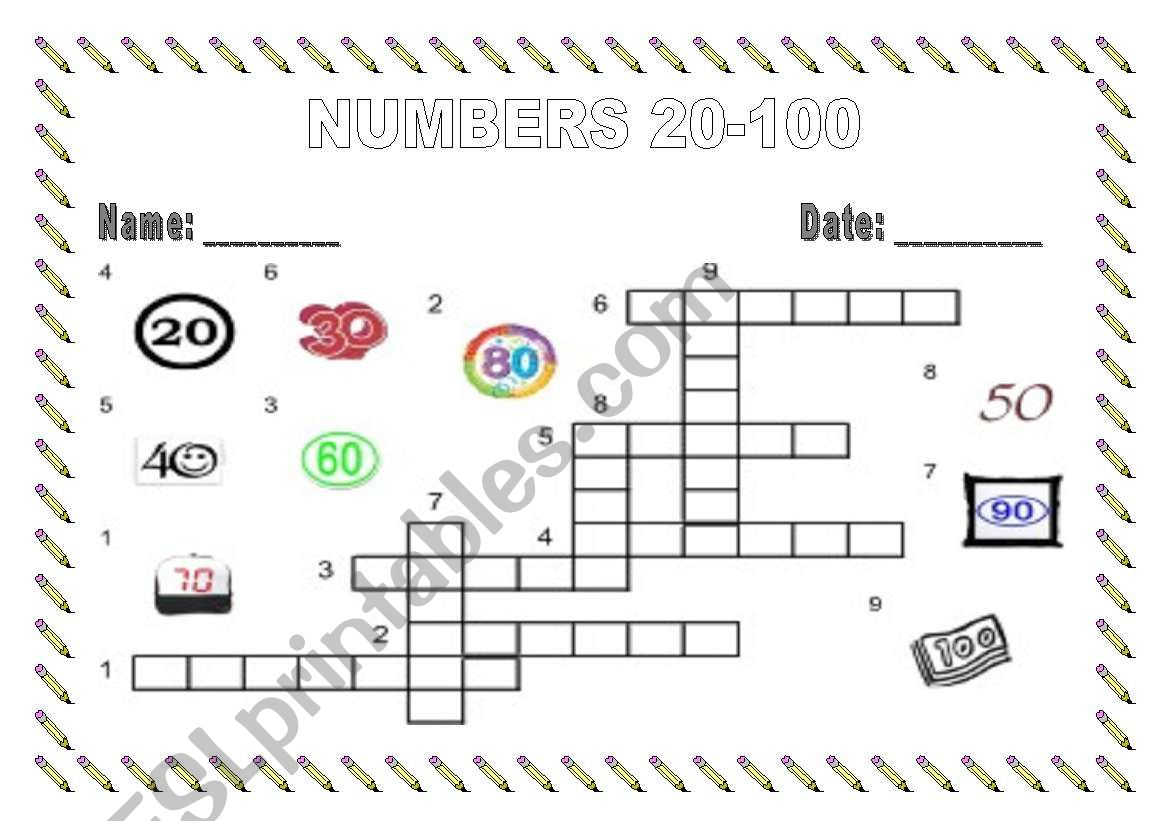Numbers 20 100