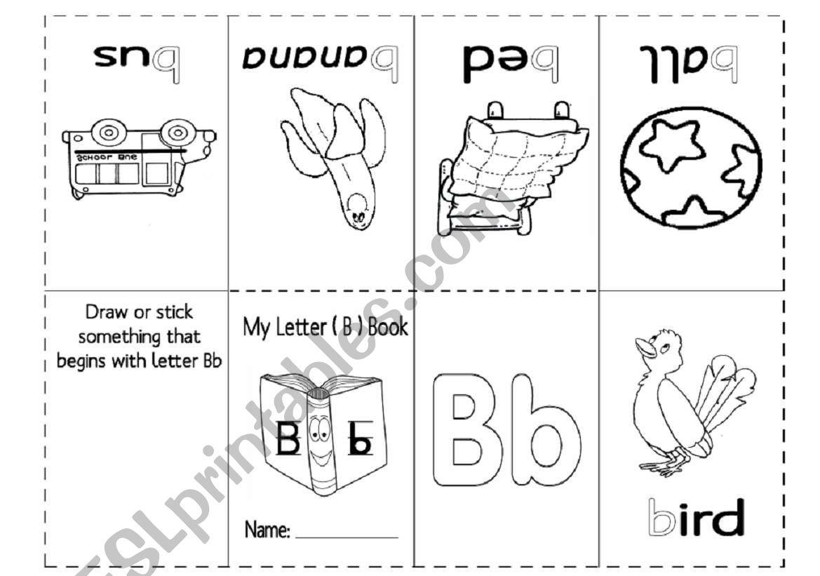 Letter Bb Mini Book