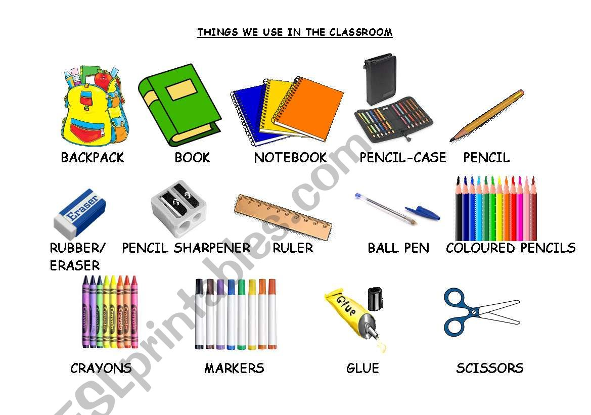 Things We Use In The Classroom