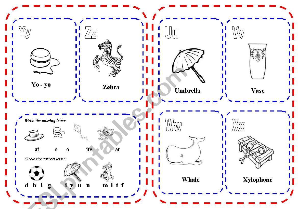 My Alphabet Mini Book Part 3