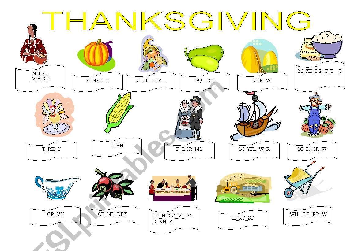 Thanksgiving Exercises