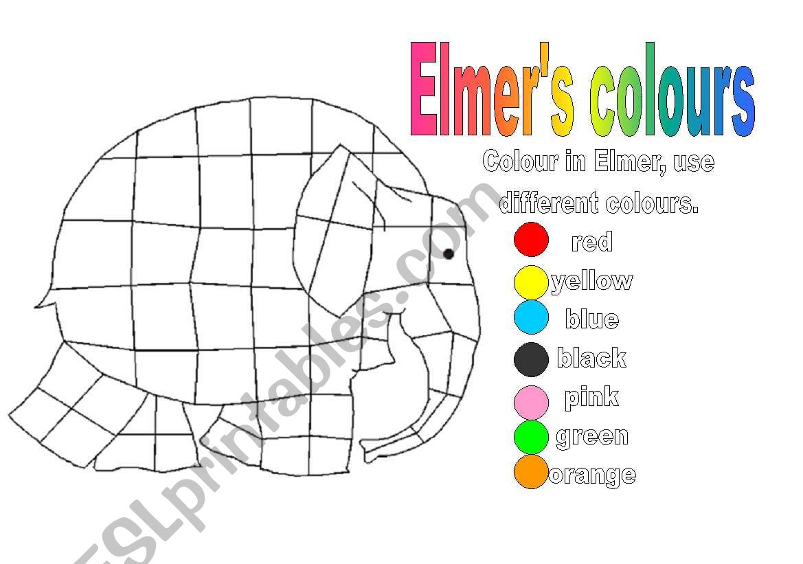 Colour In Elmer