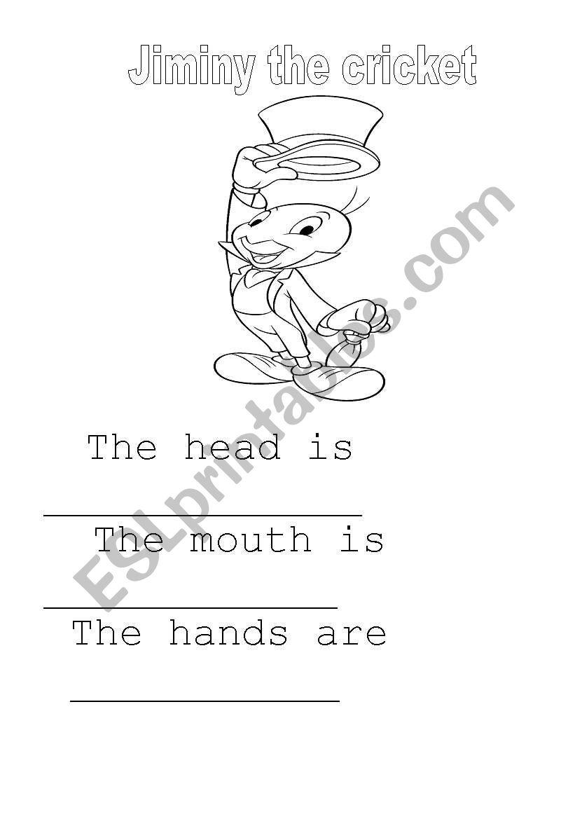 English Worksheets Pinocchio