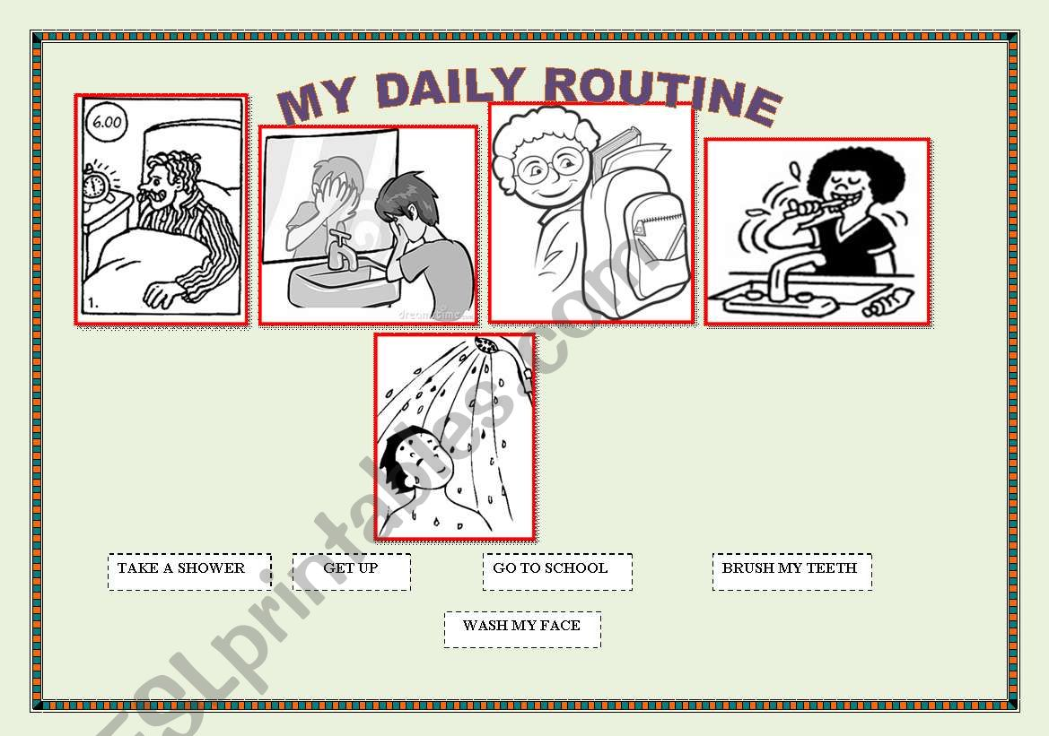 English Worksheets My Daily Routine Excellent Sheet Fro