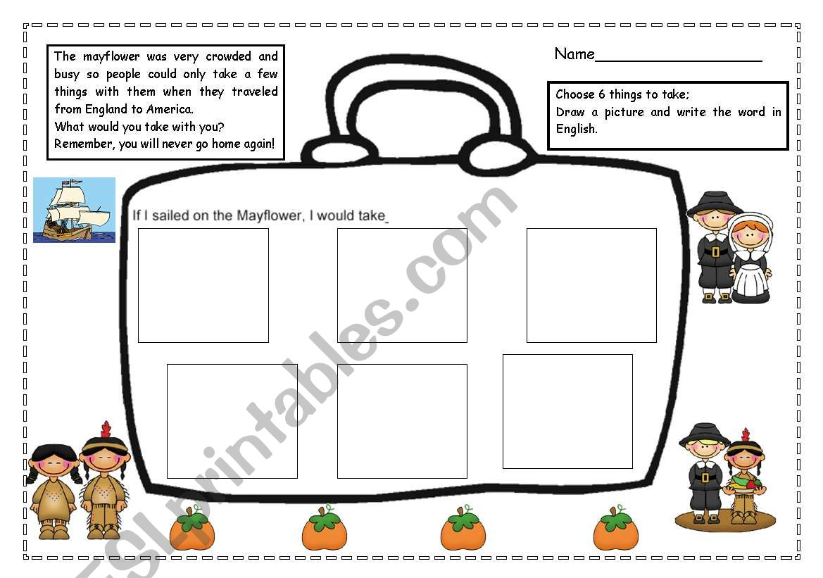 Thanksgiving Mayflower Activity