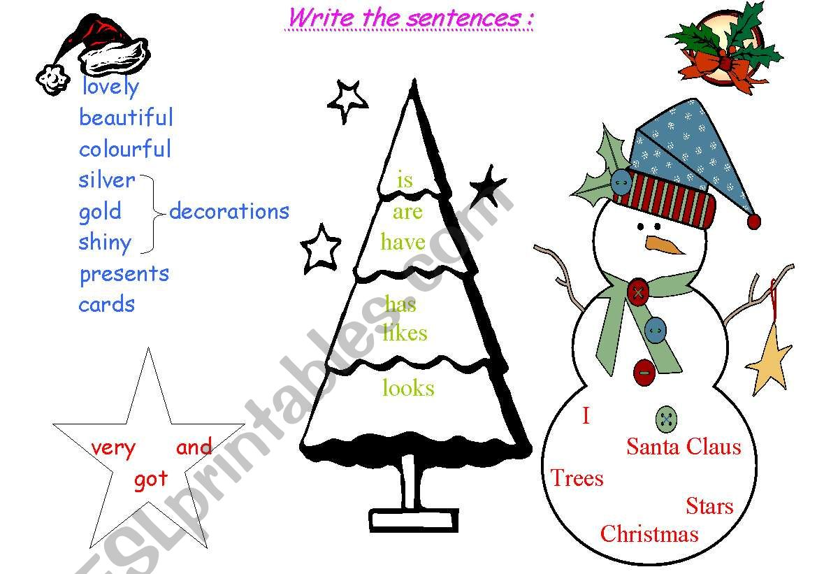 Christmas Sentences