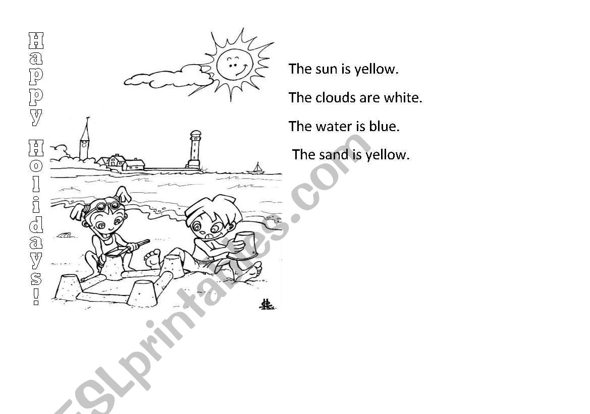 English Worksheets Happy Summer Holidays