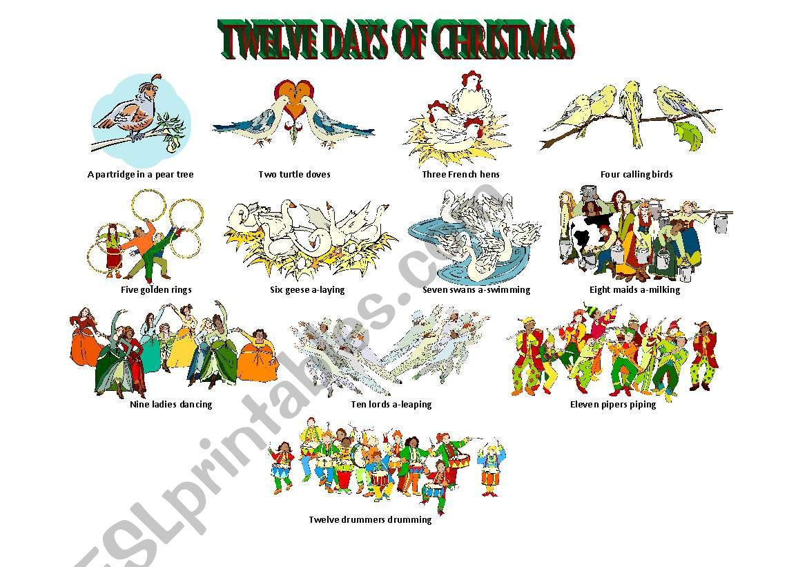 Twelve Days Of Christmas Illustrated