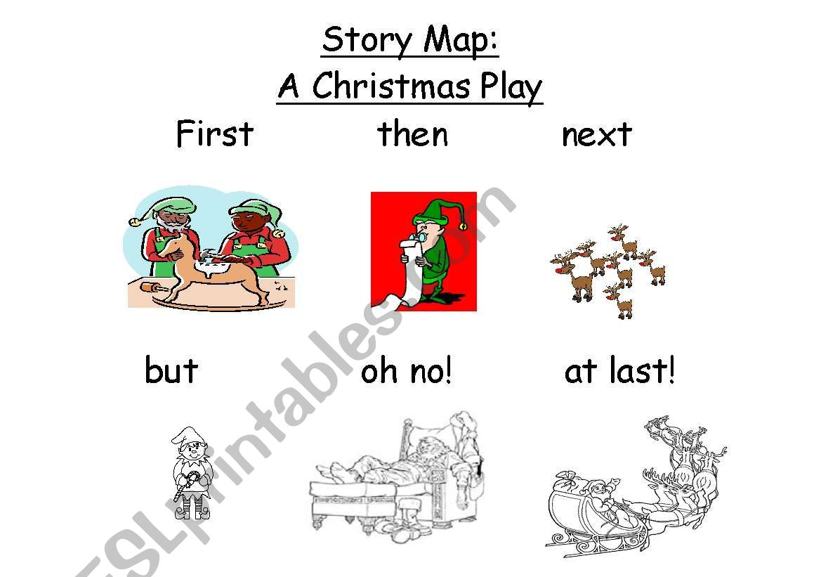 English Worksheets A Christmas Story