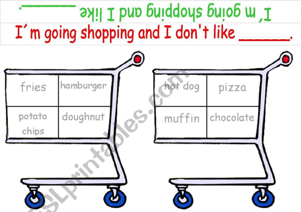 Shopping Game Junk Food