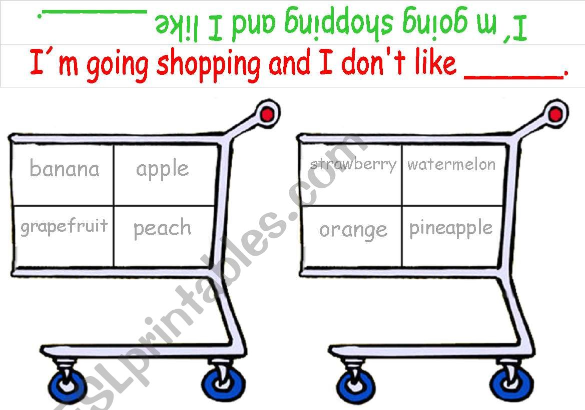 Shopping Game Fruit Part 1 Of 2