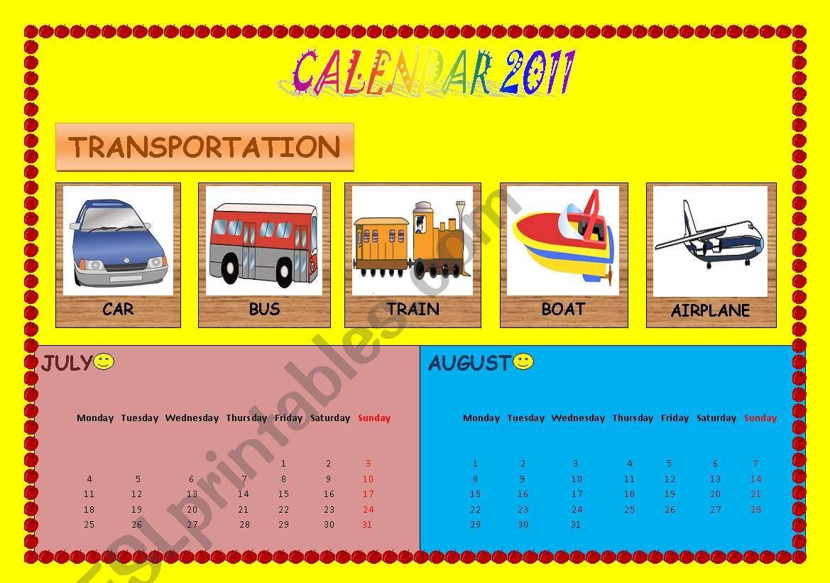 Calendar Transportation