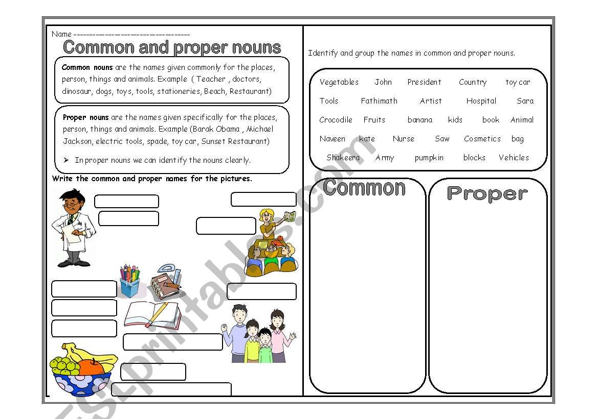 Nouns Common And Proper