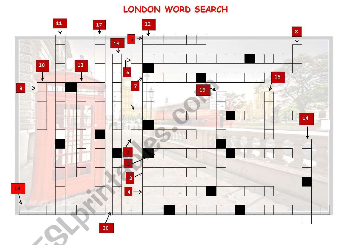 London Word Search