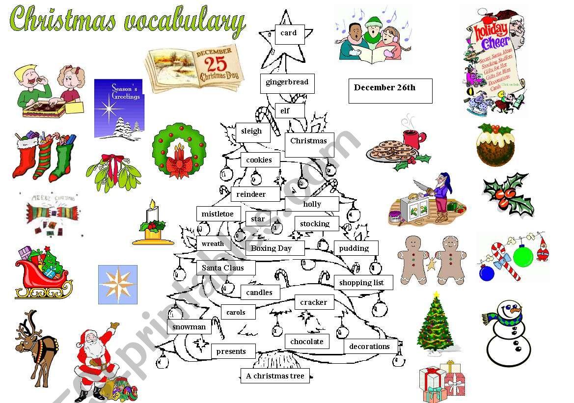 Christmas Vocabulary
