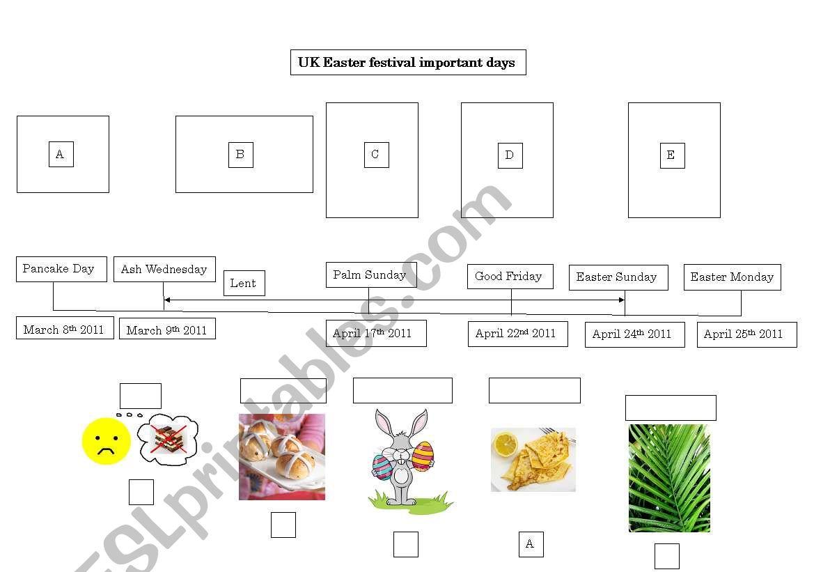 English Worksheets Easter Timeline Uk