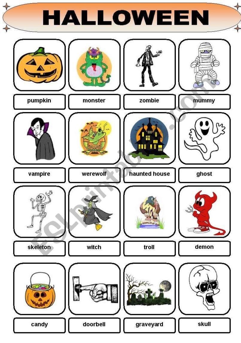 halloween vocabulary esl pdf | reviewwalls.co