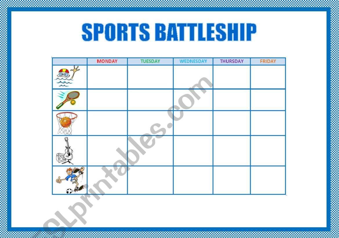Sports Battleship