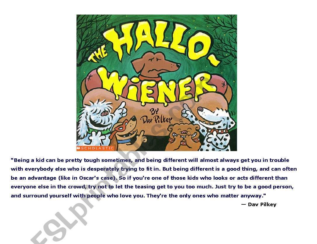English Worksheets Hallo Wiener