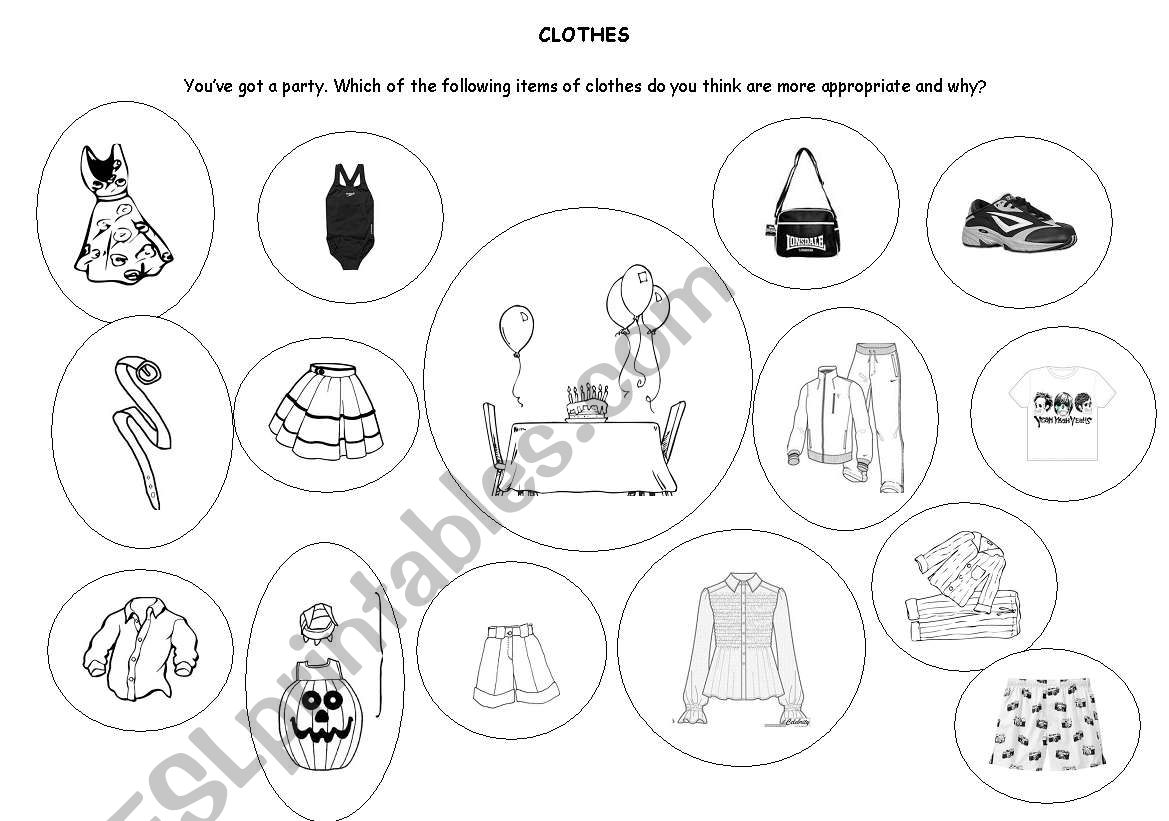 Clothes Speaking Activity Preliminary English Test Pet