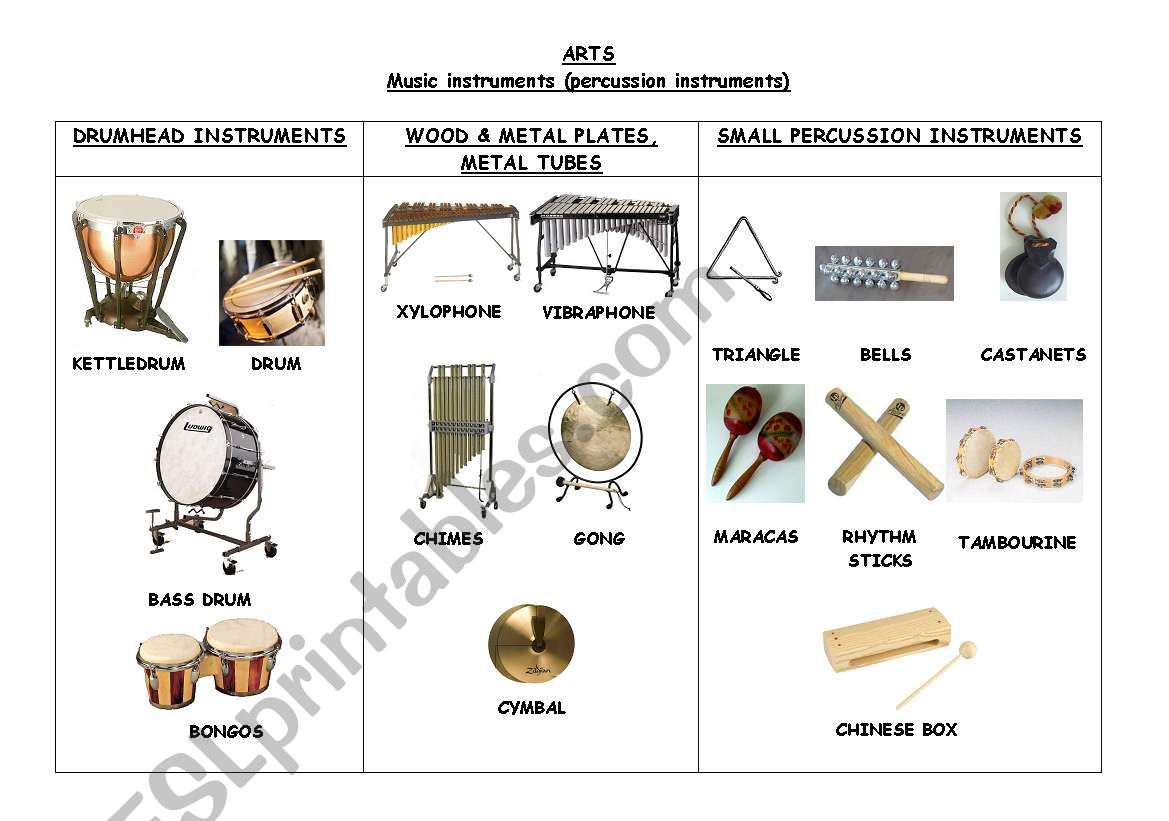 Music Instruments Percussion