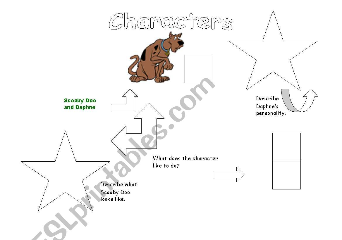 English Worksheets Scooby Doo