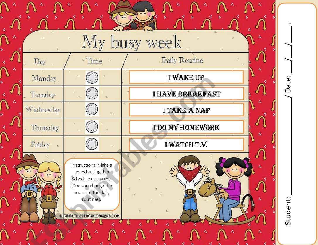 My Busy Week