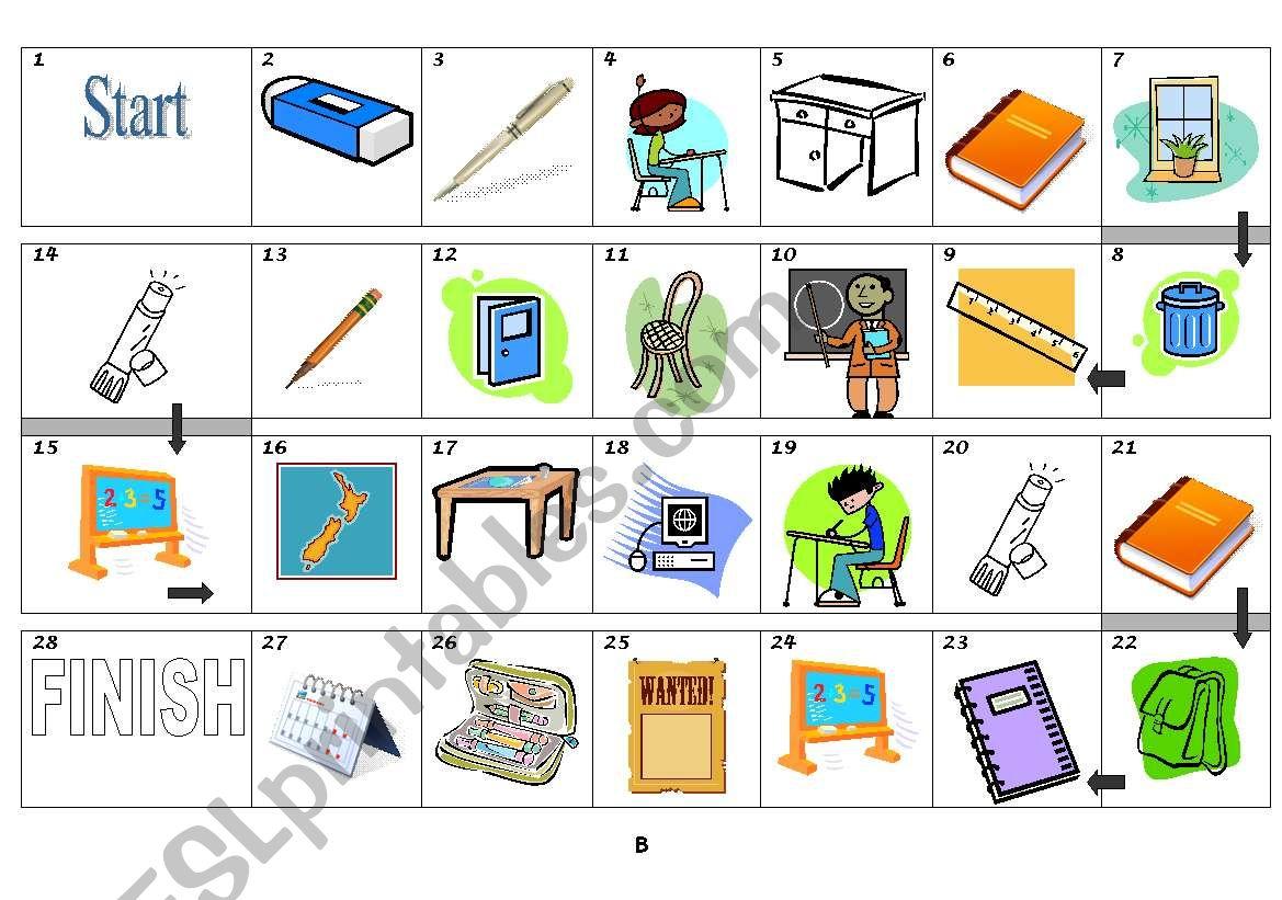 Borad Game Classroom Objects
