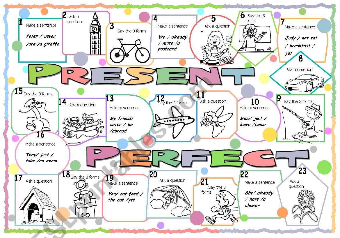Present Perfect Boardgame