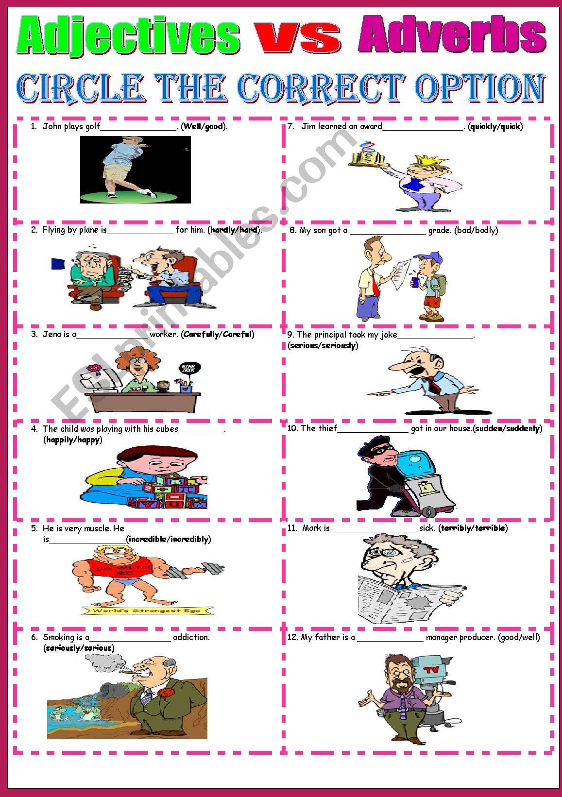 Adverbs Vs Adjectives