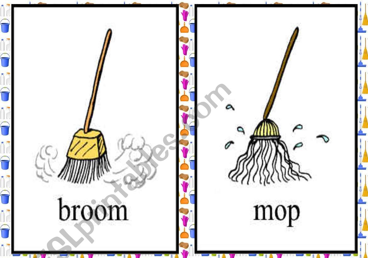 Cleaning Tools Flash Cards