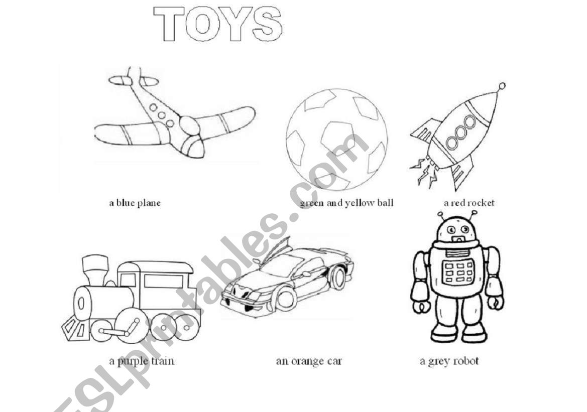 Toys Colouring