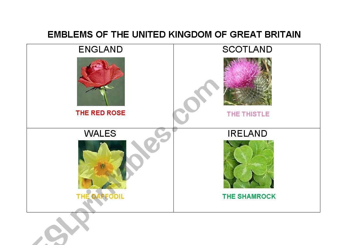 Emblems Of The Uk Of Gb
