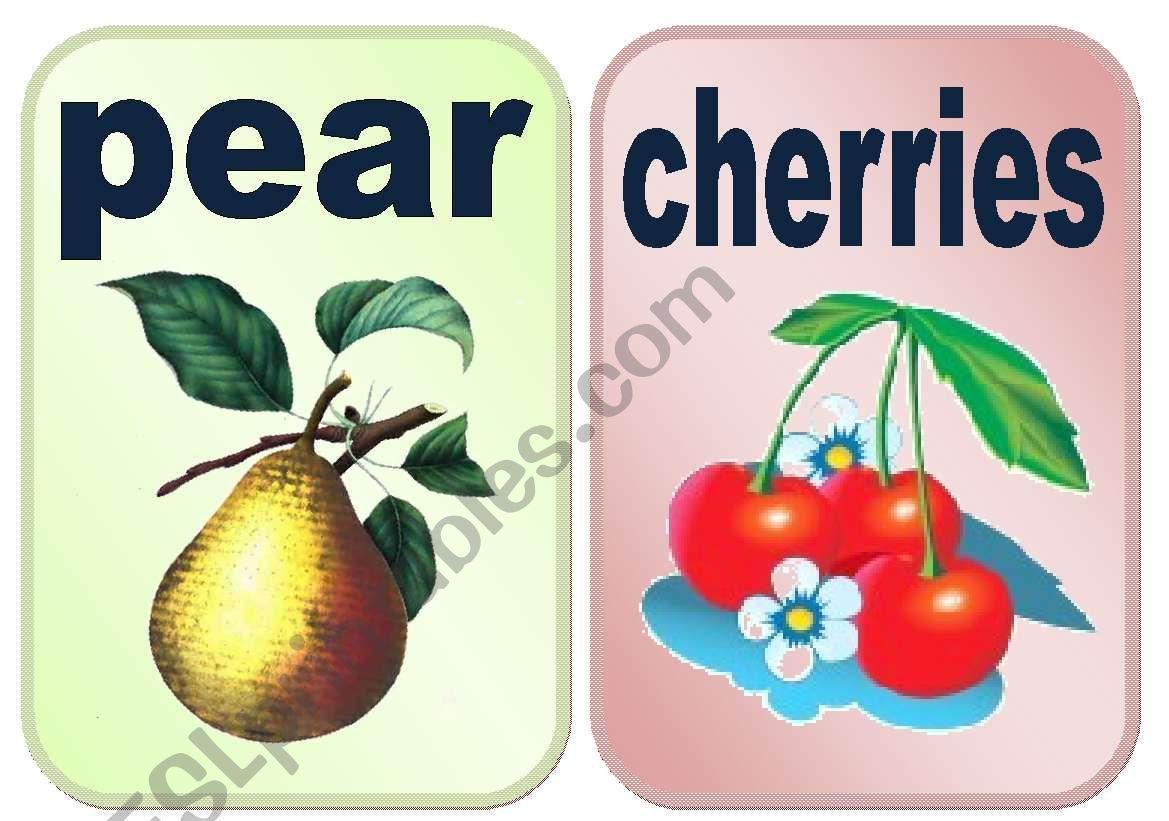 Fruits Flashcards Set1