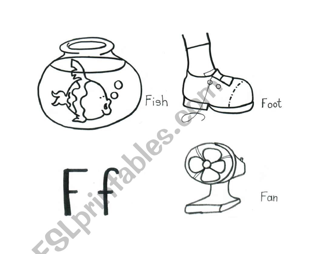 English Worksheets The Abc S Letter F