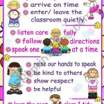 Classroom Rules Poster Esl Worksheet By Mena22