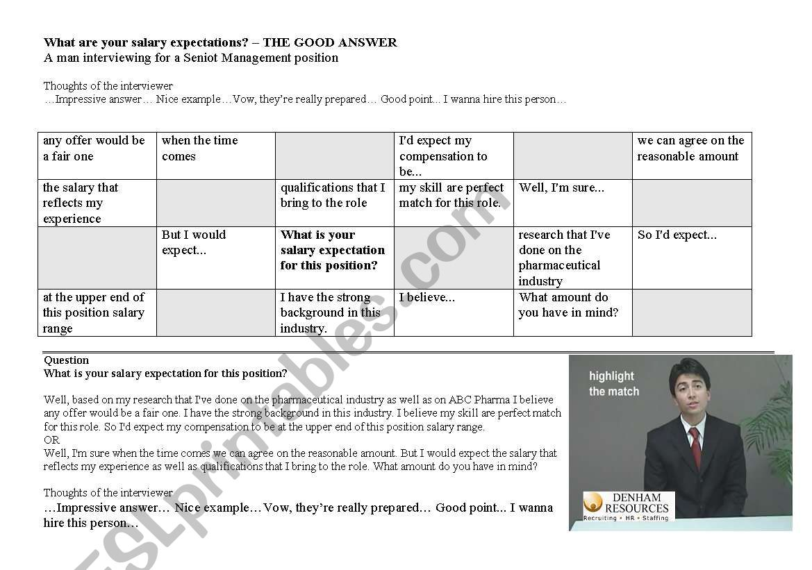 Job Interview Tips What Are Your Salary Expectations