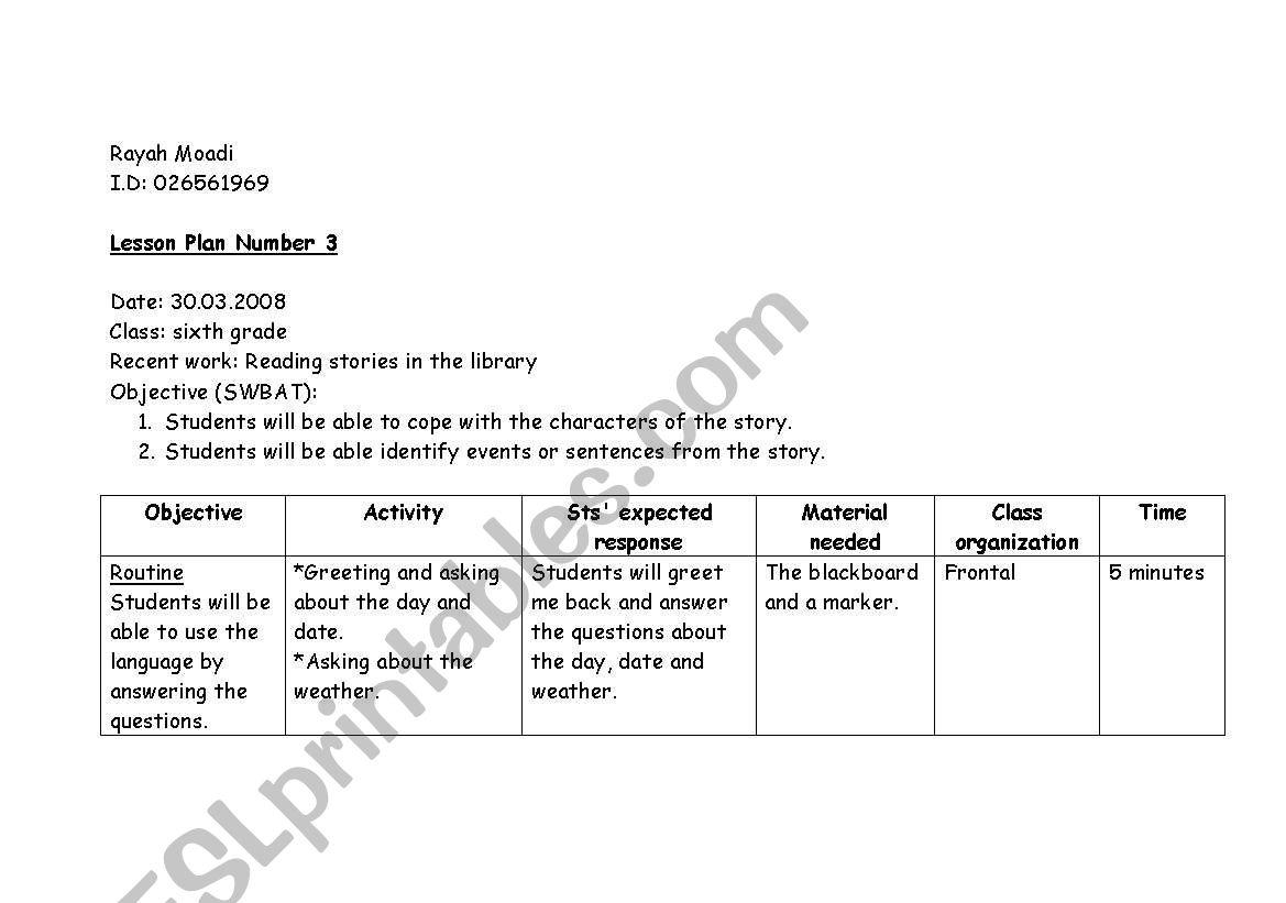 English Worksheets Storytelling