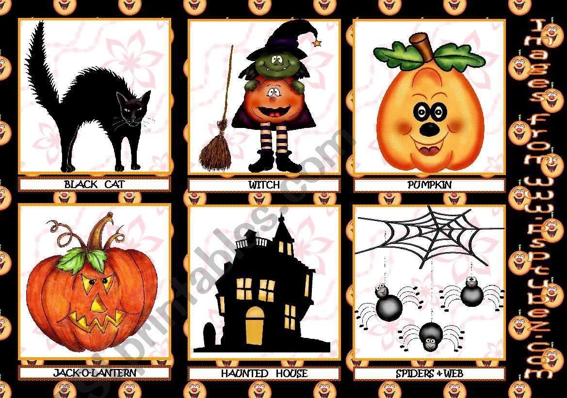 Halloween Flashcards 3rd Set