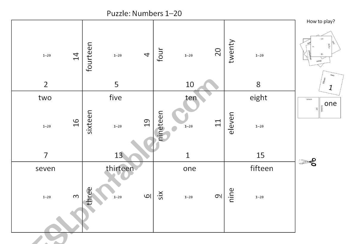Puzzle Numbers 1
