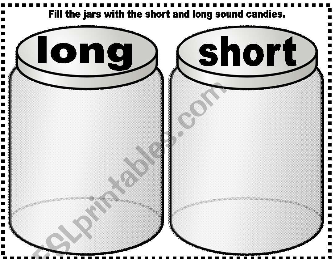 English Worksheets Short Long Vowel Sounds
