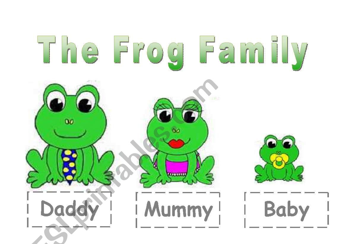 The Frog Family For Young Learners