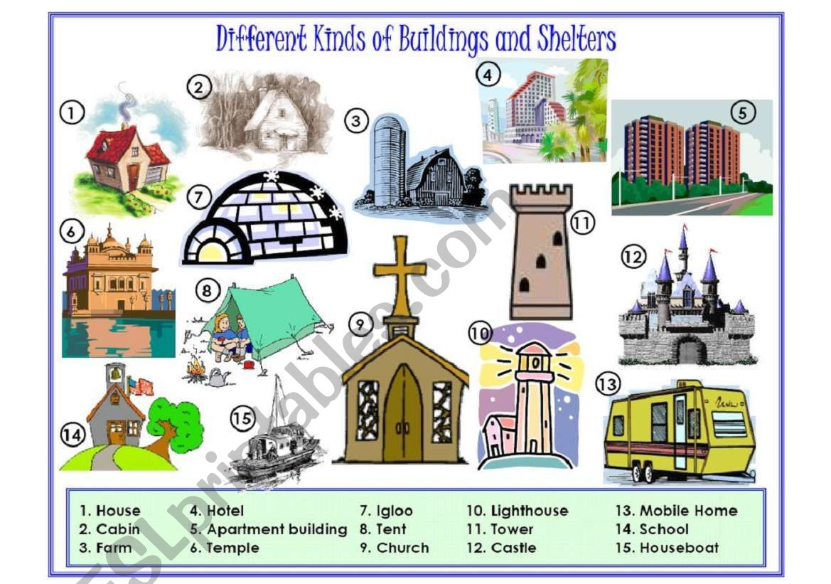 Buildings And Shelters Picture Dictionary