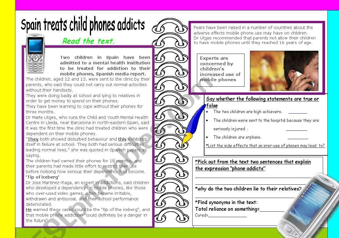 Mobile Phone Addicts