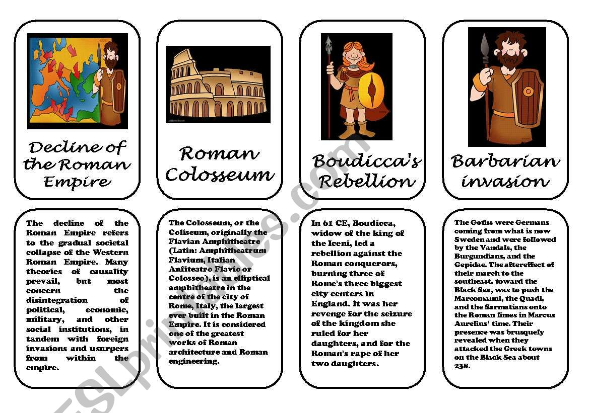 Ancient Rome Speaking Cards 1 2 January