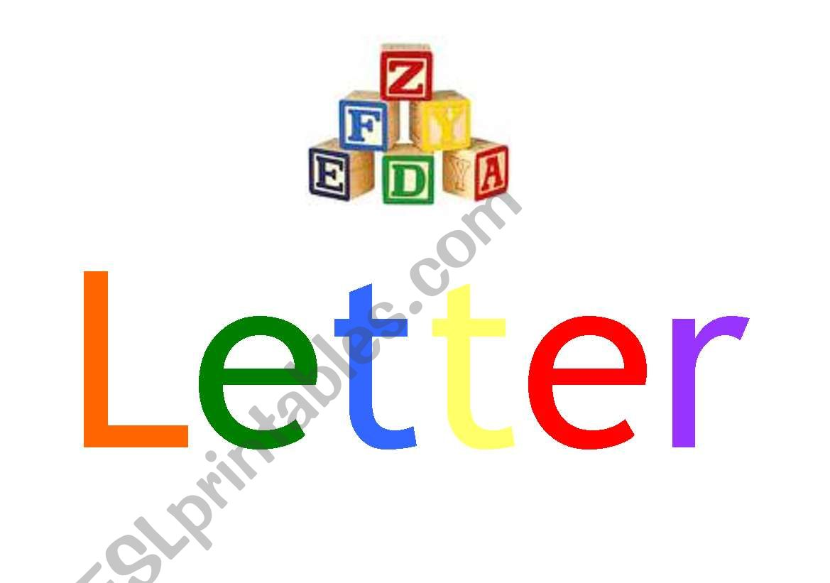 English Worksheets Letter Of The Week Sign