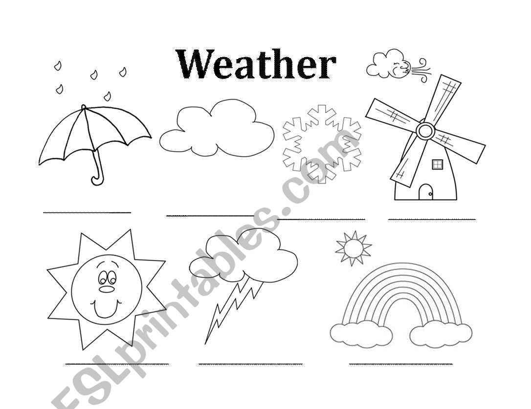 Weather Listening Worksheet