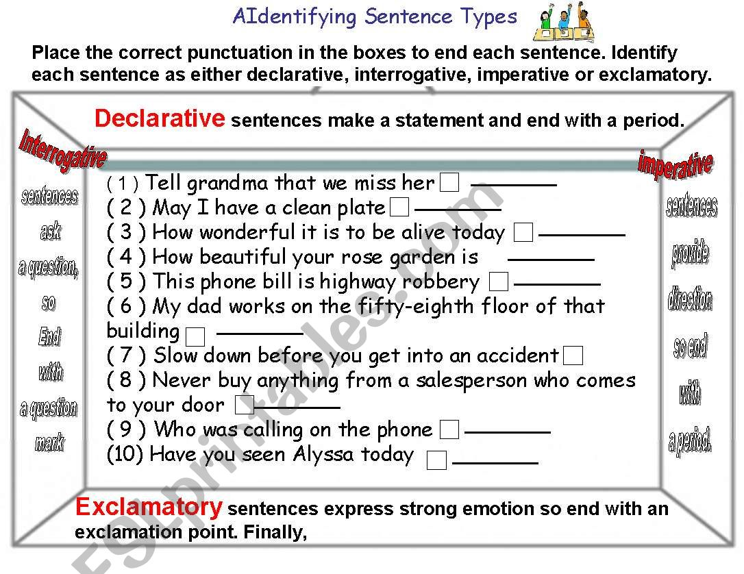 Type Of Sentences