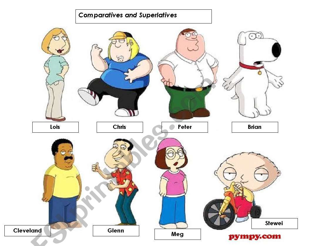 Comparatives And Superlative Board Game